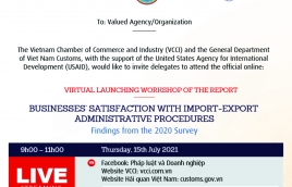Invitation to the Launching Workshop of Report on Businesses' Satisfaction with Import-Export Administrative Procedures: Findings from the 2020 Surve